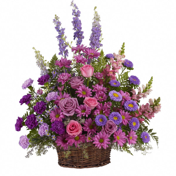 (display image: Gracious Lavender Basket)