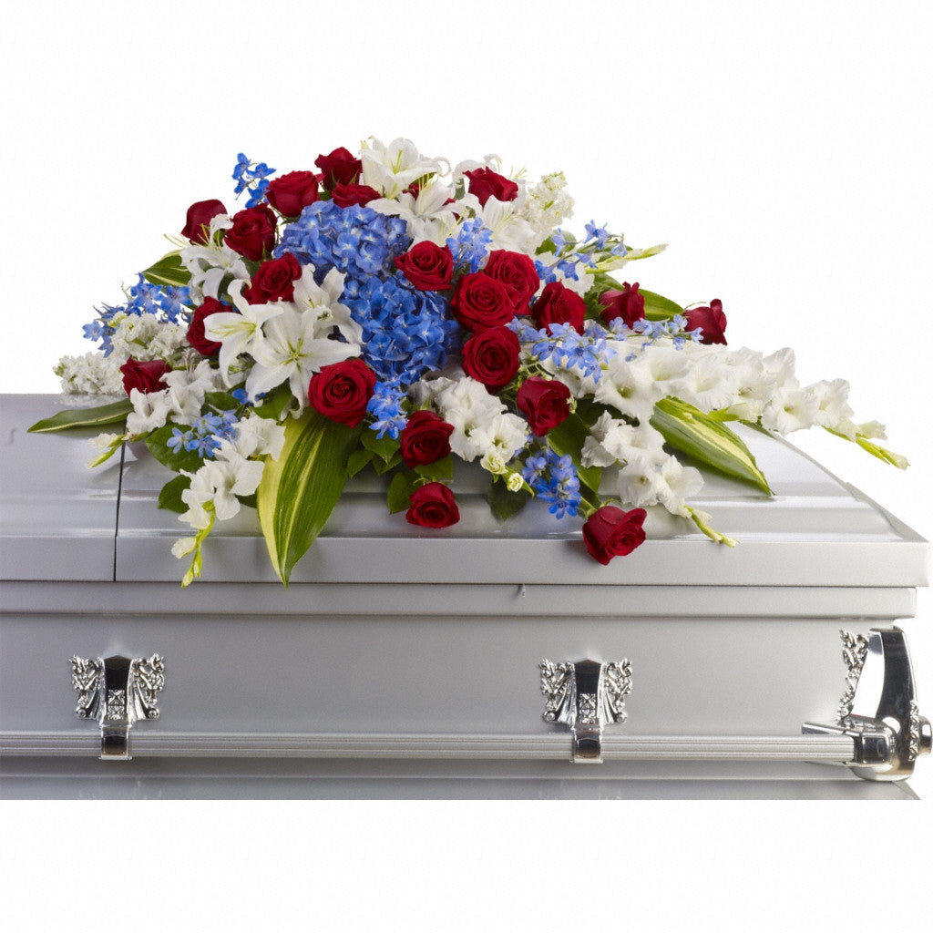 (display image: Distinguished Service Casket Spray)