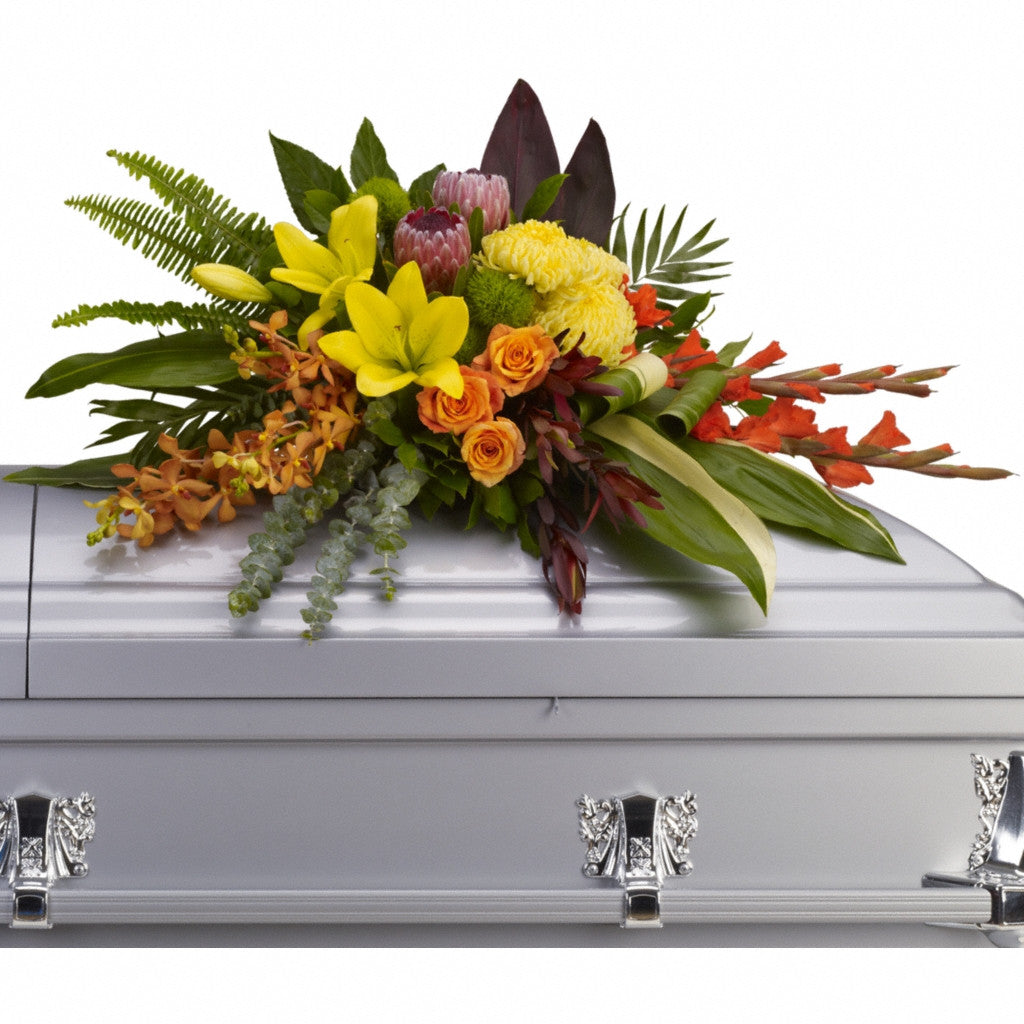 (display image: Island Memories Casket Spray)