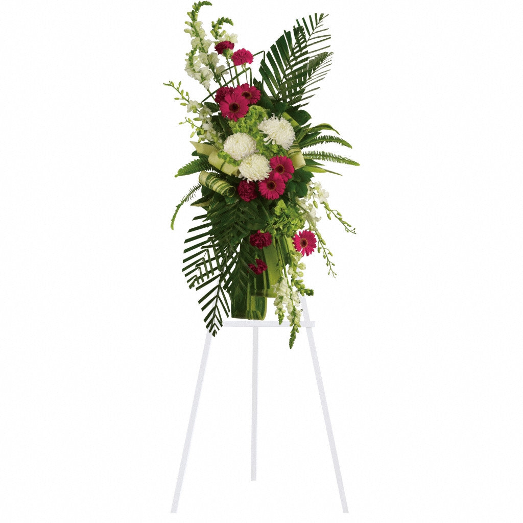 (display image: Gerberas and Palms Spray)