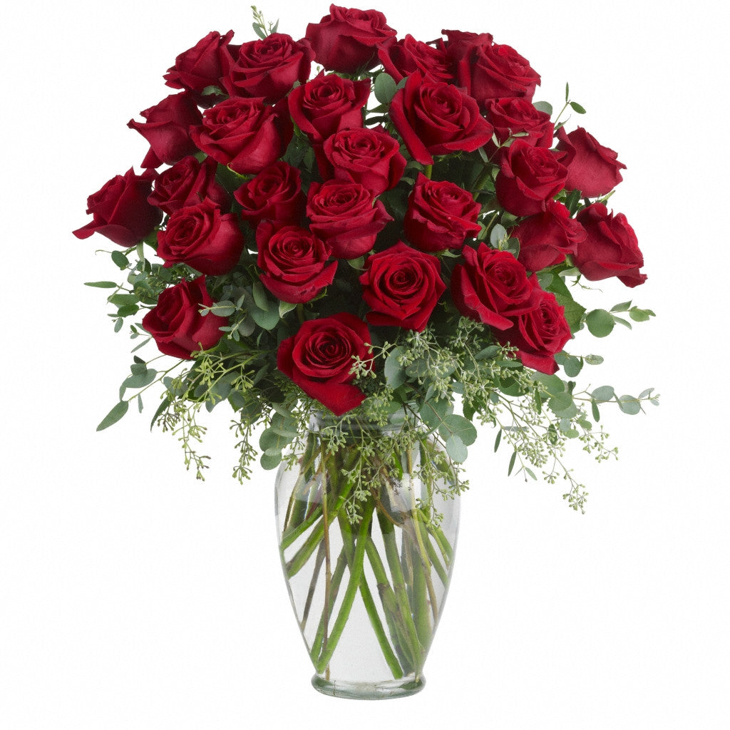 (display image: Forever Beloved - 30 Red Roses)