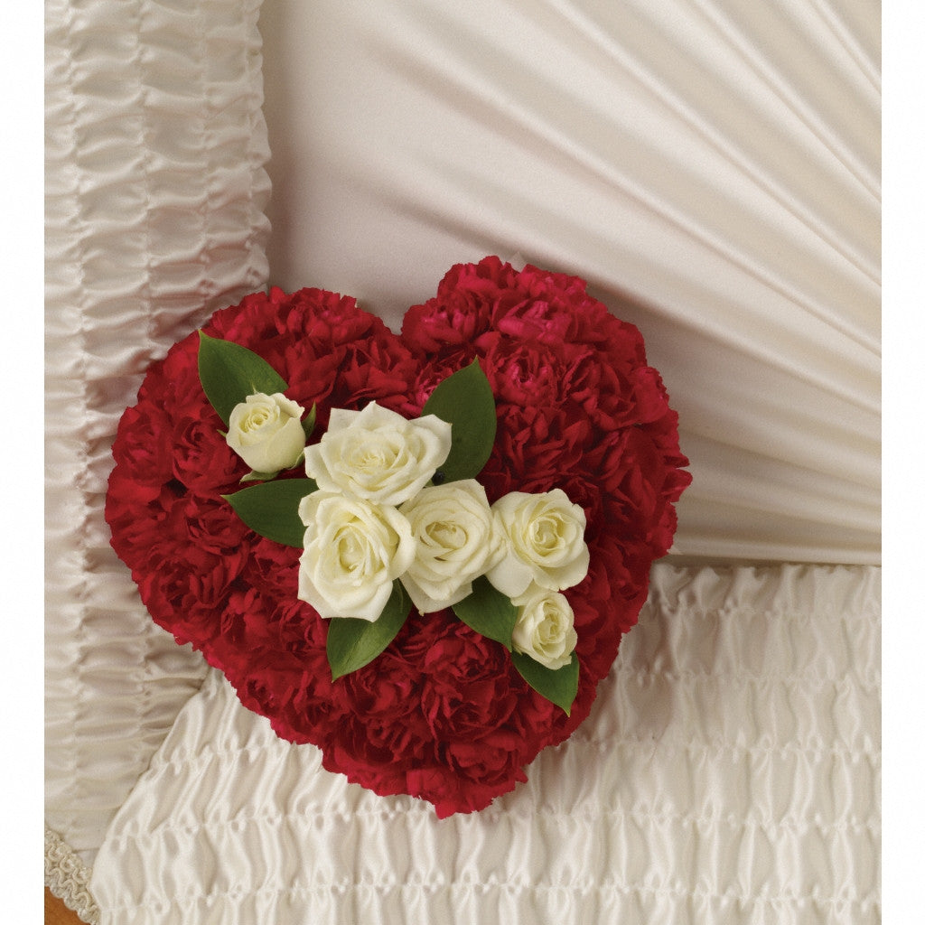 (display image: Devoted Heart Casket Insert)