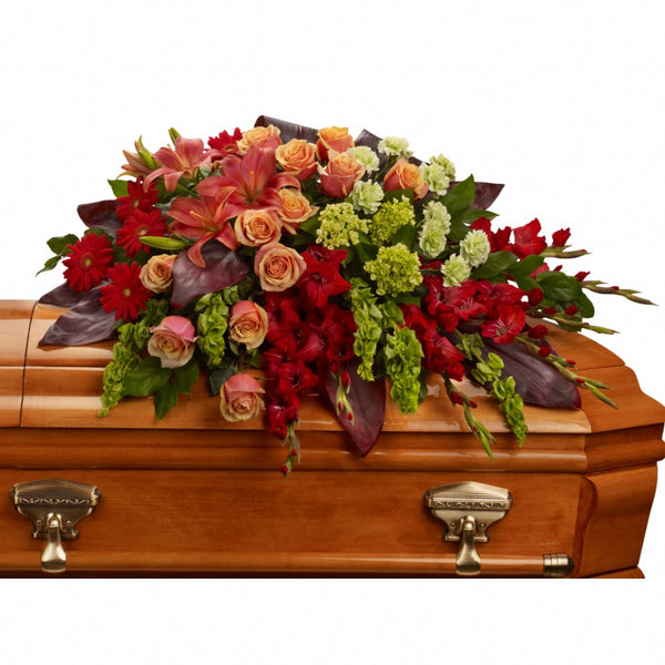 (display image: A Fond Farewell Casket Spray)