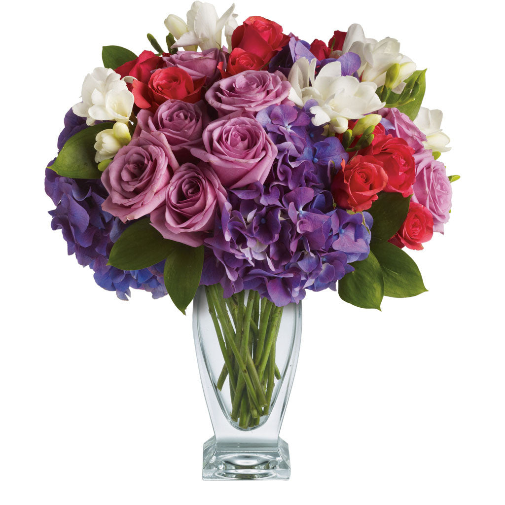 (display image: Teleflora's Rhapsody in Purple)
