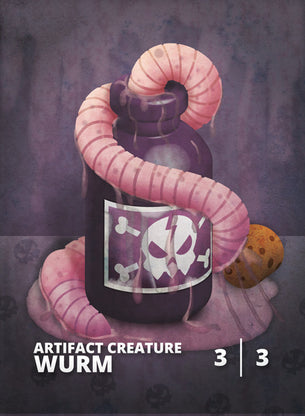 Wurm Deathtouch Token for MTG (CMJ)