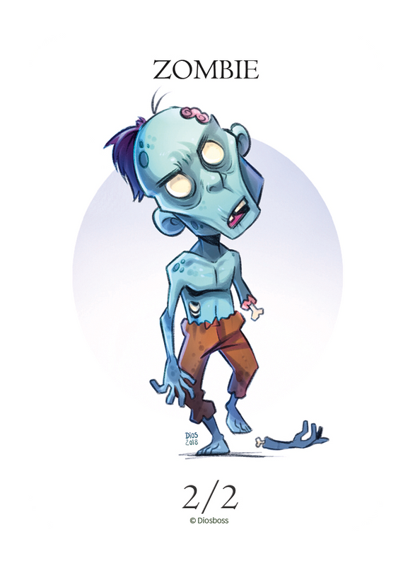 Zombie Token for MTG (Diogo Lopes) Token Diogo Lopes - Cardamajigs