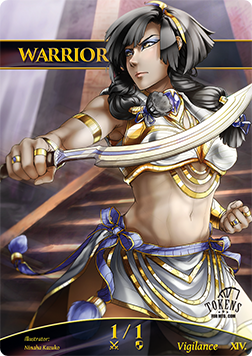 Warrior Token for MTG FOIL