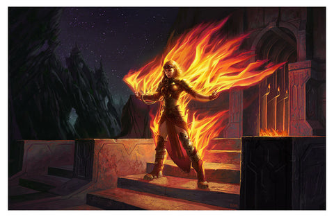 Chandra, Roaring Flame - MTG Print (Eric Deschamps)
