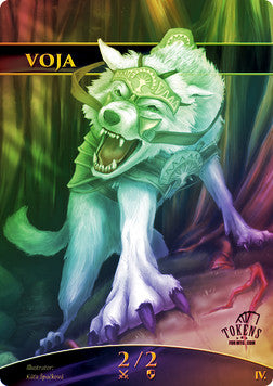 Wolf (Voja) Token for MTG FOIL