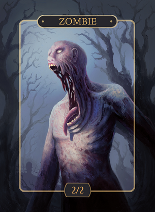 4x Zombie 2/2 Tokens for MTG (Alison Johnstun)