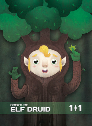 Elf Druid (Freyalise) Token for MTG (CMJ)