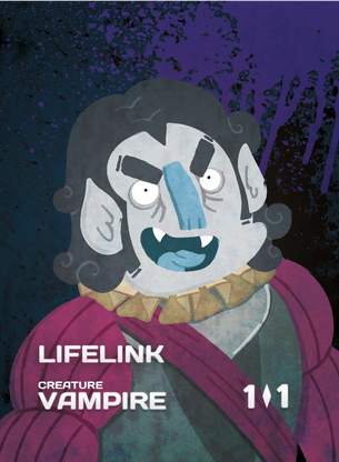 Vampire Lifelink Token for MTG (CMJ)
