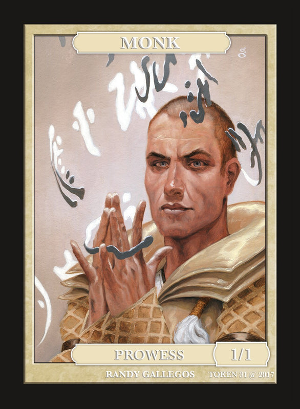 Limited Edition Monk Token for MTG (by Randy Gallegos) Token Givememana - Cardamajigs