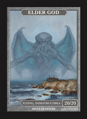Limited Edition Elder God (Marit Lage) Token 20/20 for MTG (by Matt Stawicki)