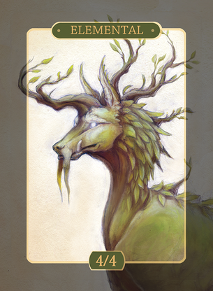Green Elemental Token for MTG (Alison Johnstun)