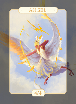 Angel 4/4 Token for MTG (Alison Johnstun)