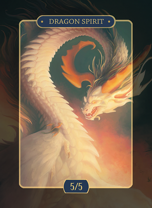 Dragon Spirit 5/5 Token for MTG (Alison Johnstun)