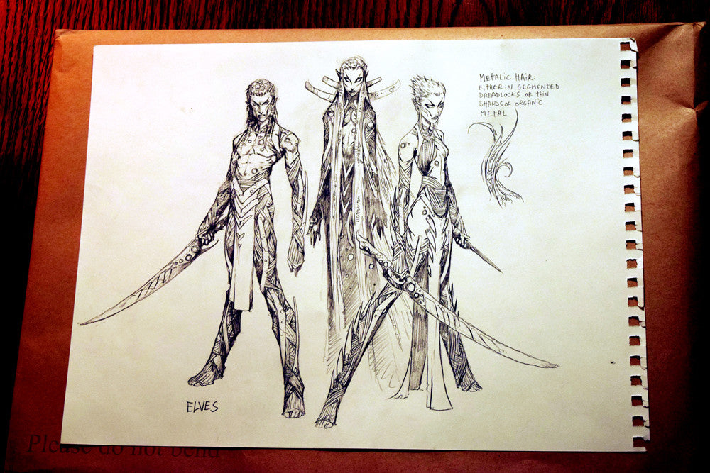 Elves (Wayne Reynolds, New Phyrexia) Concept Art Gallery - Cardamajigs
