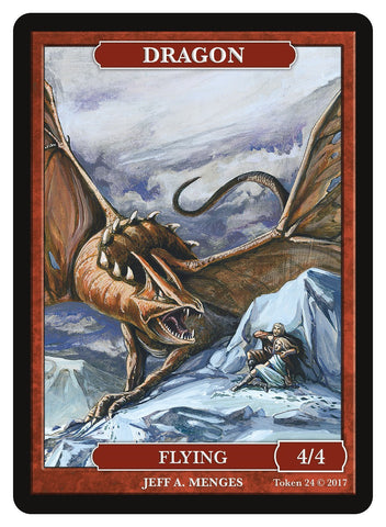 Limited Edition Dragon Token for MTG (by Jeff A. Menges)