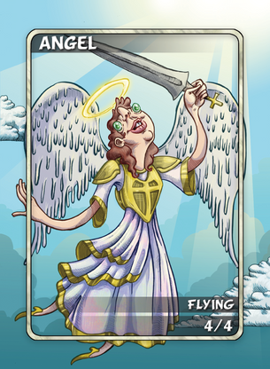 4x Angel Tokens for MTG (Anthony Briglia)