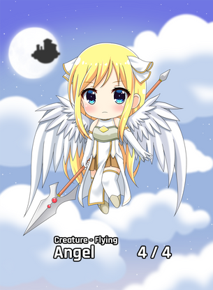 Angel Flying 4/4 for MTG (AetherHub)