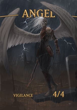 Angel Vigilance Token for MTG (ISH)
