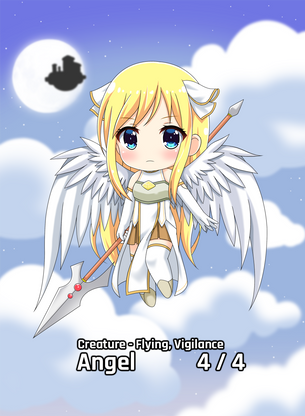 Angel Flying Vigilance 4/4 for MTG (AetherHub)