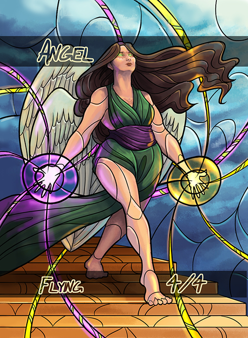 Angel 4/4 Token for MTG (HAZ) Token Emily Dahms - Cardamajigs