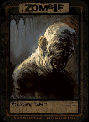 4x Zombie Sludge Face Tokens for MTG (Thomas M. Baxa)