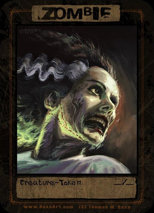 4x Zombie Bride Tokens for MTG (Thomas M. Baxa)