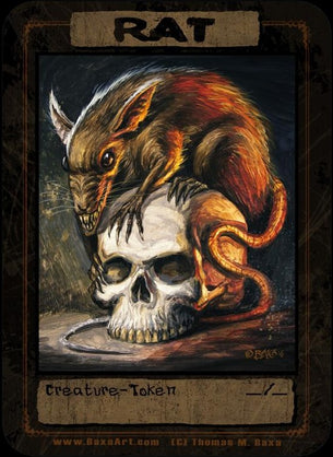 Rat on a Skull Token for MTG (Thomas M. Baxa)