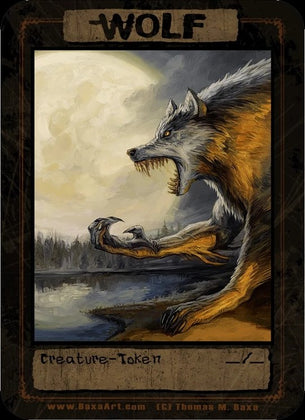Wolf Werewolf Token for MTG (Thomas M. Baxa)