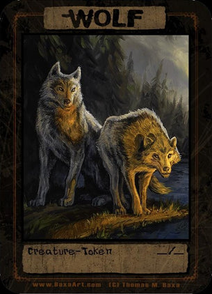 Wolf Wolves Token for MTG (Thomas M. Baxa)