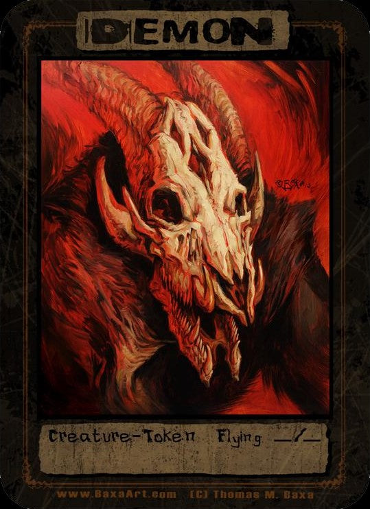 Demon Hellhog Token for MTG (Thomas M. Baxa) Token Baxa Token - Cardamajigs