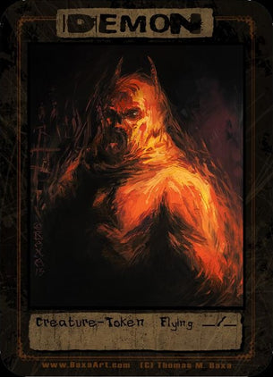4x Demon Red Fiend Tokens for MTG (Thomas M. Baxa)