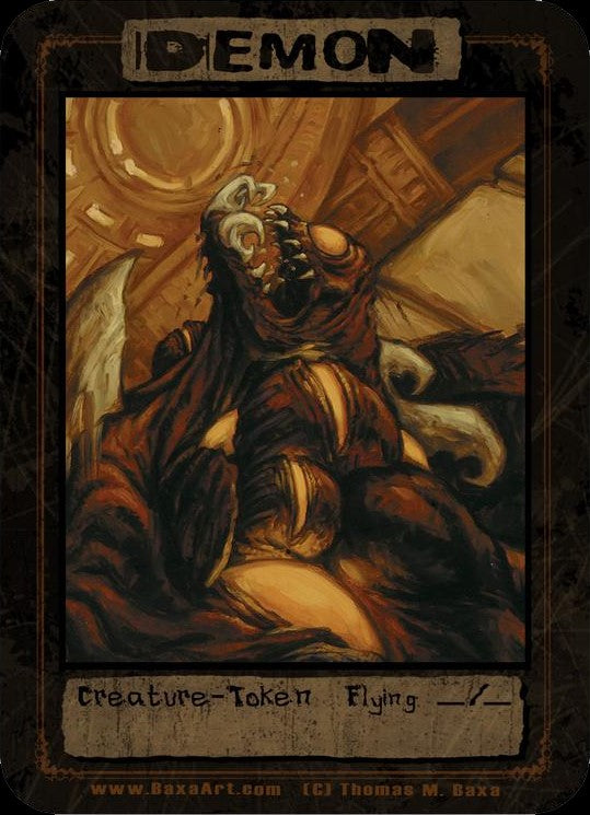 Demon Summoning Token for MTG (Thomas M. Baxa) Token Baxa Token - Cardamajigs