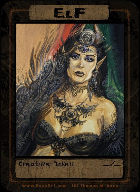 Elf Tribal Gypsy Token for MTG (Thomas M. Baxa) Token Baxa Token - Cardamajigs