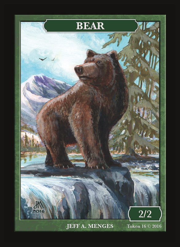 Limited Edition Bear Token for MTG (by Jeff A. Menges)