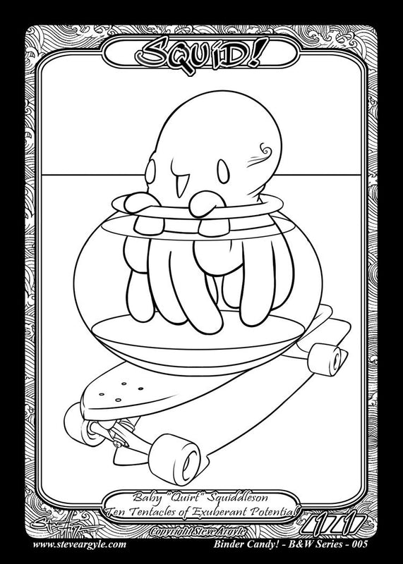 Squid Baby Coloring Token for MTG (Steve Argyle)