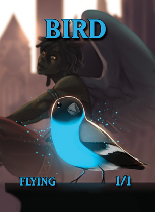 4x Bird Tokens for MTG (ISH)
