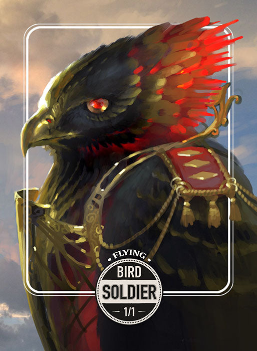Bird Soldier token for MTG (Clint Cearley) Token Clint Cearley - Cardamajigs