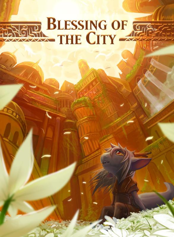 Blessing of the City Token for MTG (ISH) Token A.Lundell - Cardamajigs