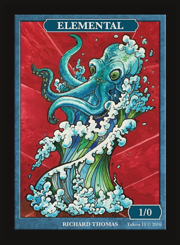 Limited Edition Blue Elemental Token for MTG (by Richard Thomas)