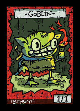 4x Goblin 1 Tokens for MTG (Butzbo)