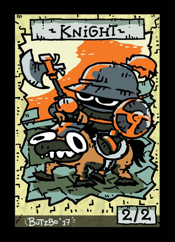 Knight Token for MTG (Butzbo) Token Butzbo - Cardamajigs