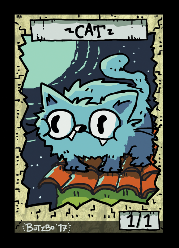 Cat Token for MTG (Butzbo) Token Butzbo - Cardamajigs