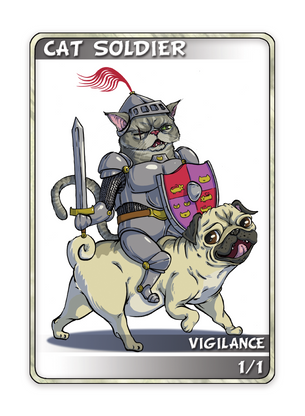Cat Soldier Token for MTG (Anthony Briglia)