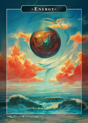 Energy Token for MTG (Peter Mohrbacher) Token Angelarium 2 - Cardamajigs