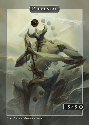 Elemental Token (Omnath) for MTG (Peter Mohrbacher)