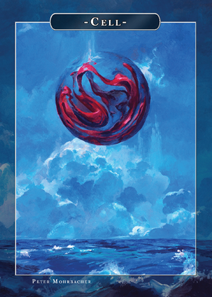 Cell Token for MTG (Peter Mohrbacher)